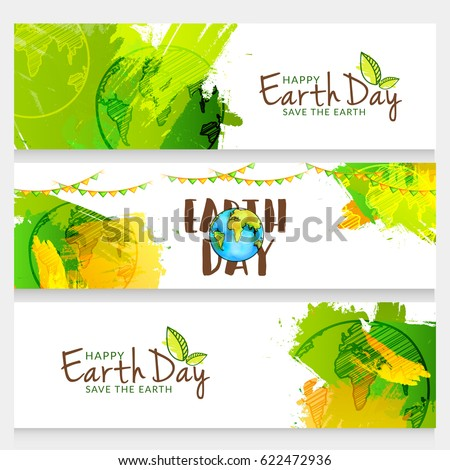 happy earth day header or
