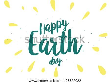 happy earth day inscription