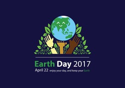 happy earth day. poster, illustration, typography, text, graphic, printing media and presentation furniture. love your earth.