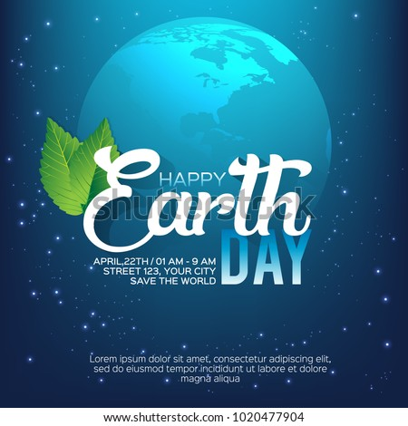 Happy Earth Day Poster or Banner Background