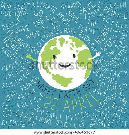 happy earth day poster text