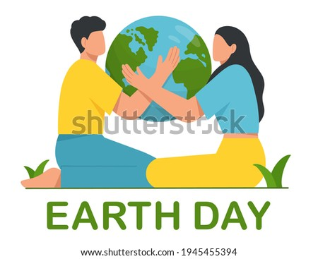 happy earth day young man and