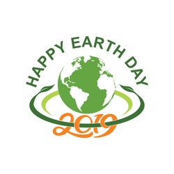 Happy earthday with circle years