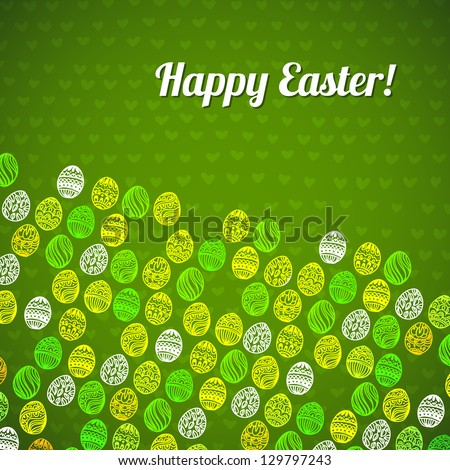 Happy easter background. easter egg. Easter egg vector pattern for your  design - stock vector