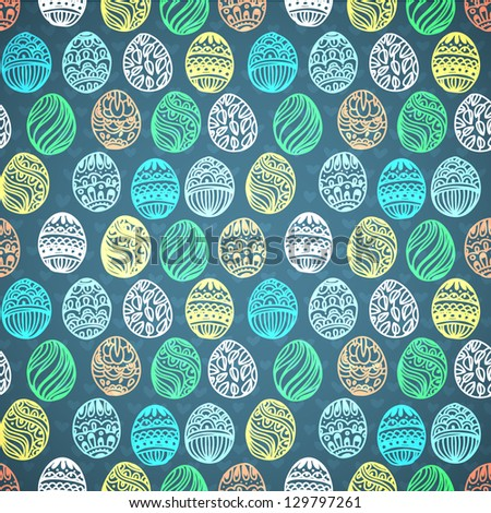 Happy easter background easter egg seamless vector pattern for your design