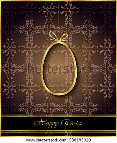 Happy Easter background for your invitations, festive posters, greetings cards.