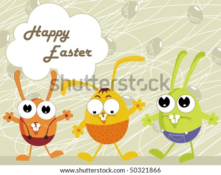 funny happy easter images. stock vector : happy easter
