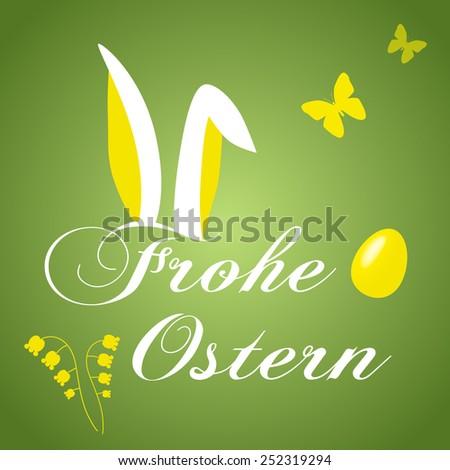 Happy Easter Bunny Ears Vector