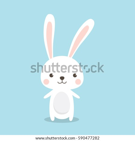 Happy Easter Bunny Vector illustration.