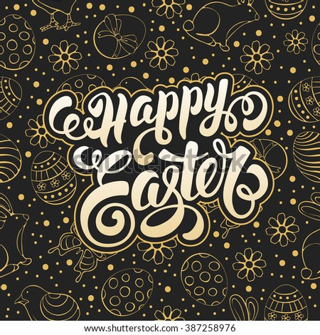happy easter calligraphic
