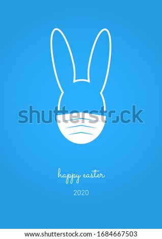 happy easter 2020 card with