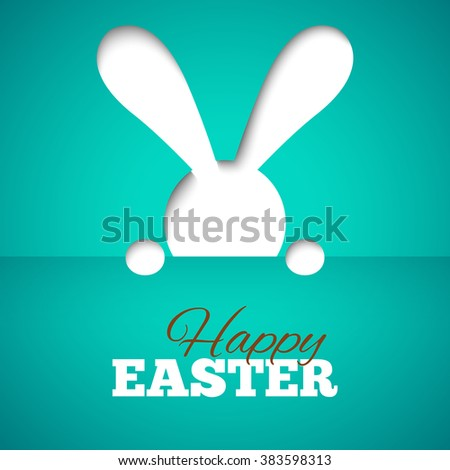 happy easter card with hiding