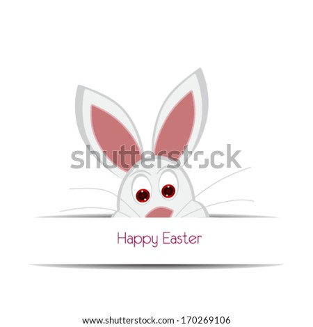 happy easter cards illustration with easter eggs easter bunny ez