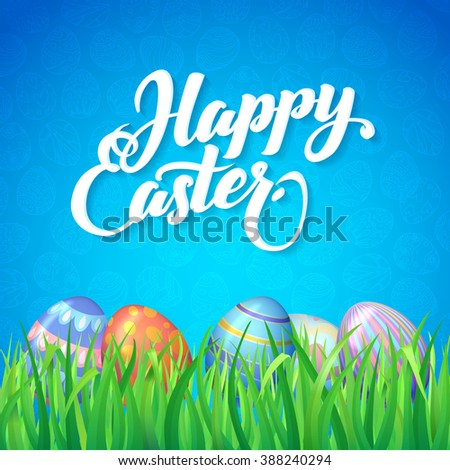 happy easter celebration card