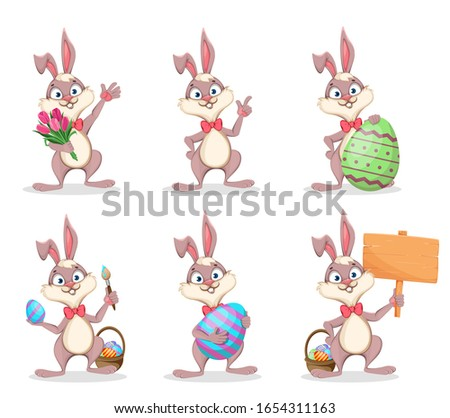 happy easter  cute bunny funny