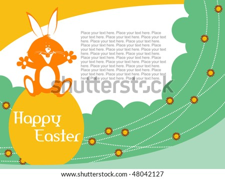 happy easter day image. stock vector : happy easter
