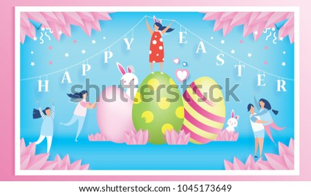 happy easter day celebration