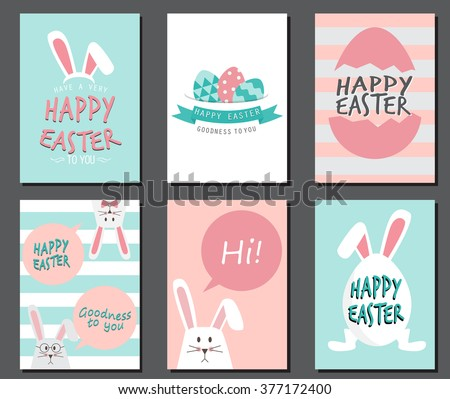 happy easter day cute bunny