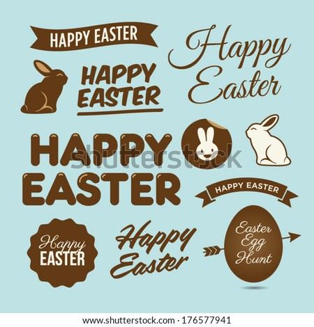 happy easter design elements