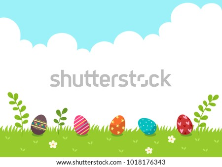 happy eastereaster eggs with