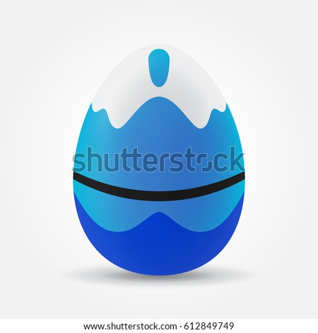 happy easter egg with wave