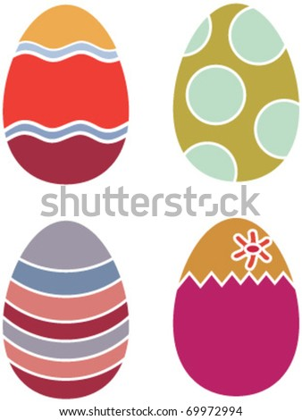 happy easter eggs. vector