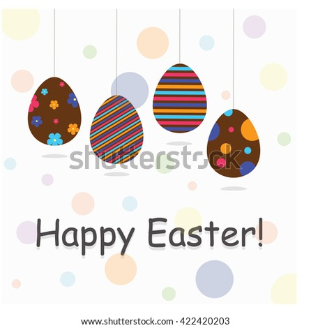 happy easter festive poster