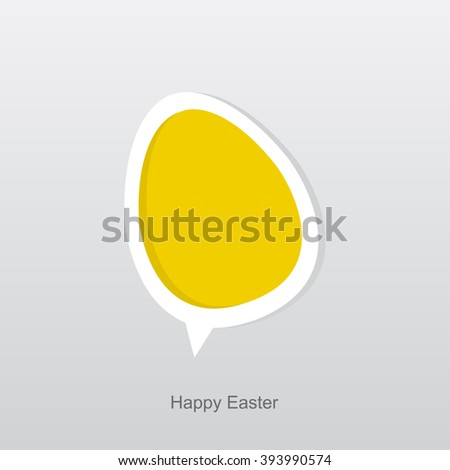 happy easter flat icon vector
