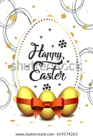 happy easter flyer template a6