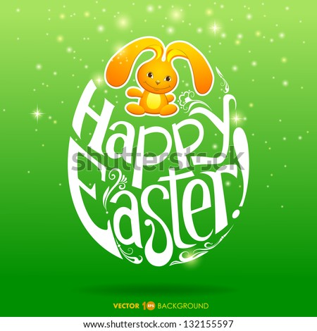 Happy Easter greeting card background. Vector eps 10.