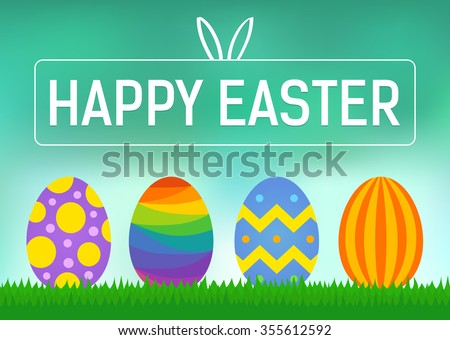 happy easter greeting card or