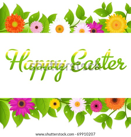 happy easter images greetings. stock vector : Happy Easter Greeting Card, Vector Illustration