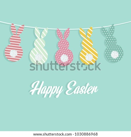 happy easter holiday greeting...
