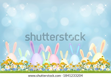 happy easter holiday greeting