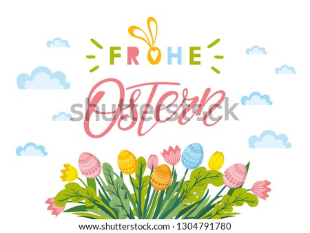 happy easter lettering with