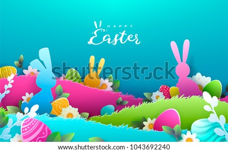 easter egg hunt background download free vector art stock