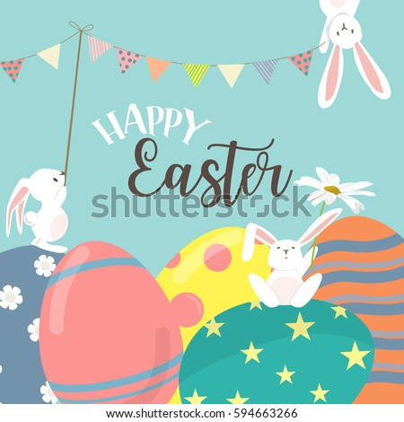 happy easter poster  invitation