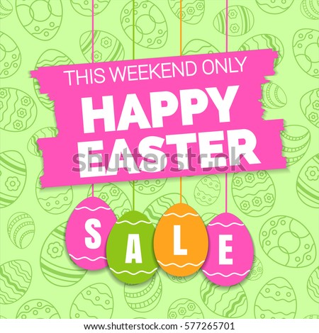 happy easter sale offer  banner