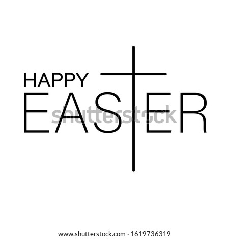 happy easter sign vector files
