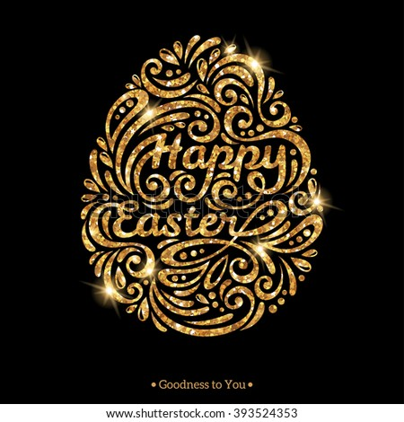 happy easter text inside egg