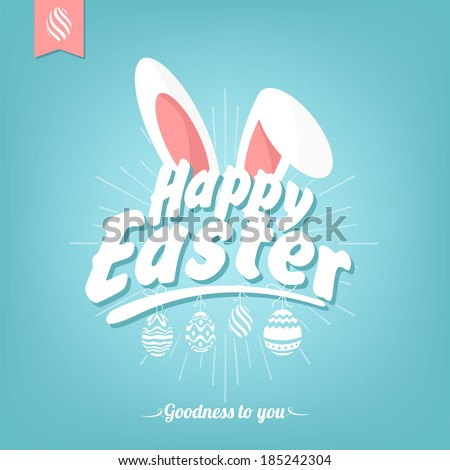 stock-vector-happy-easter-typographical-background-with-bunny