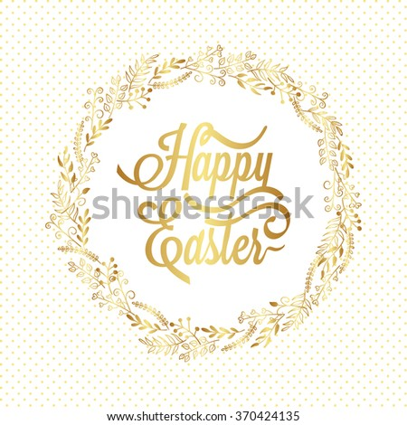 happy easter typography