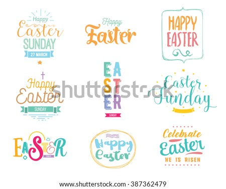 happy easter typography design