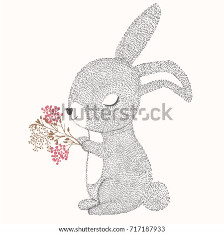 Stock Photo Happy Easter vector design.Animal illustration.