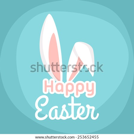 happy easter vector greeting