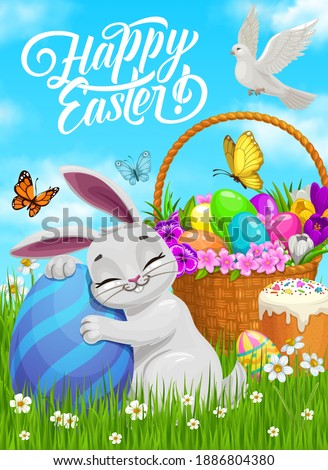 happy easter vector poster