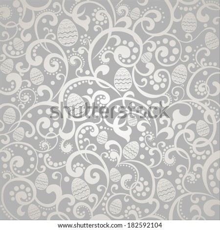 Happy Easter! Vintage background with egg. Vector Illustration  - stock vector