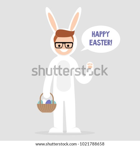 happy easter young character