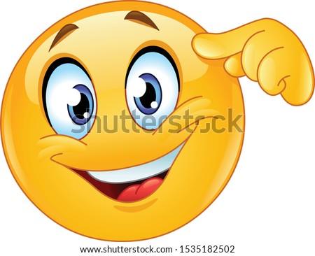 happy emoji emoticon pointing