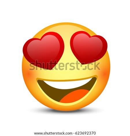 happy emoji face object on
